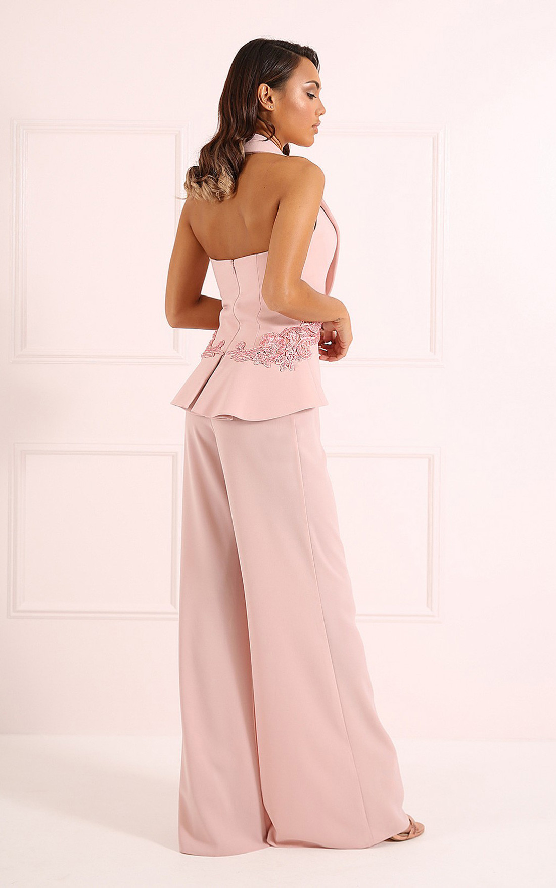 8e11eb15766 ... Forever Unique - Andie Nude Tuxedo Style Jumpsuit (CH8802) ...