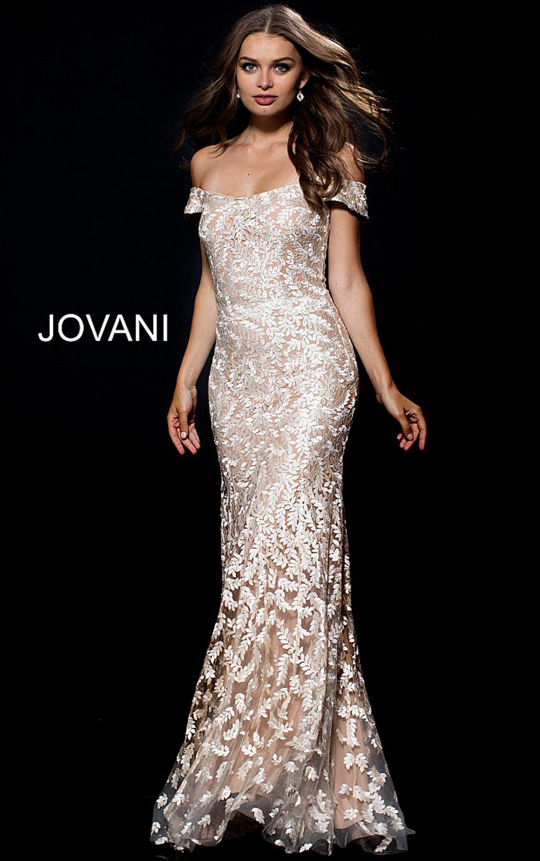 Jovani Dresses | Womens Gold Off the Shoulder Embroidered ... - photo#27
