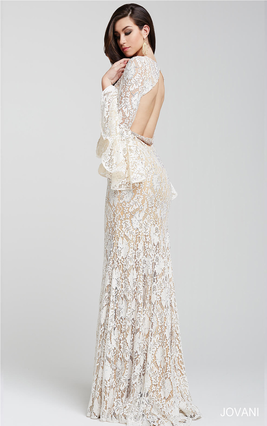 Off White Evening Dress