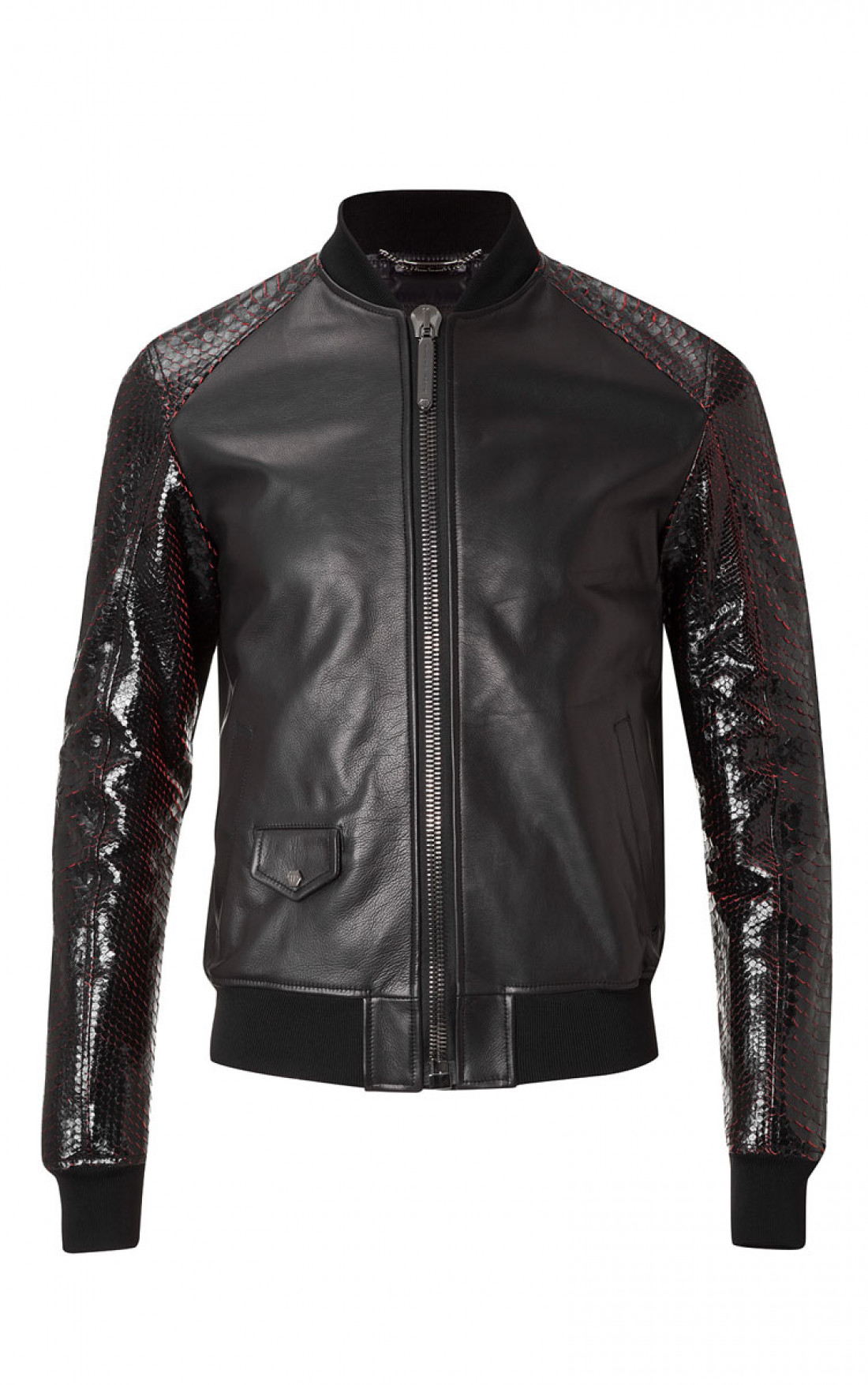 philipp plein leather jacket mens lofty black leather. Black Bedroom Furniture Sets. Home Design Ideas