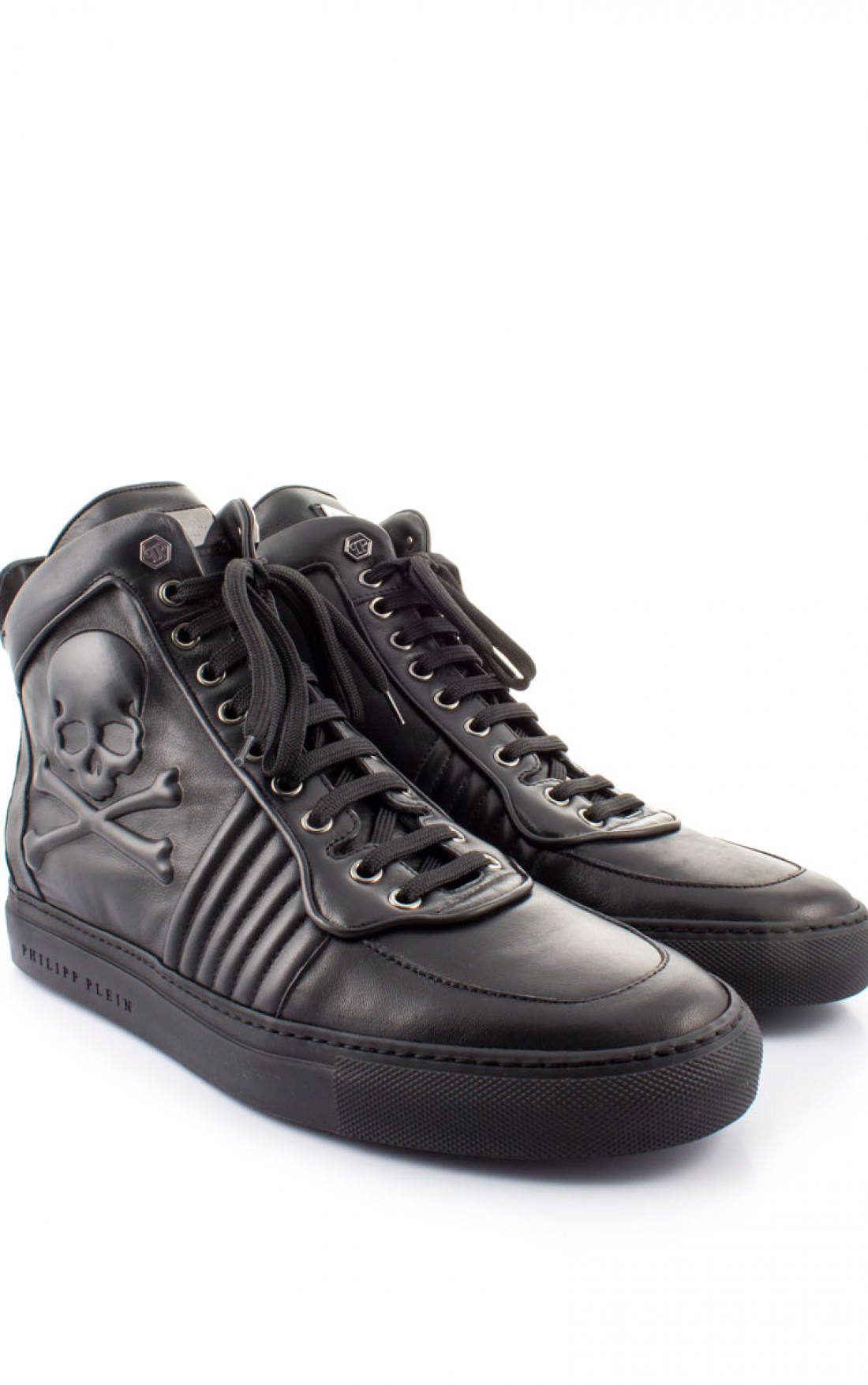 philipp plein skulls sneakers black men designer
