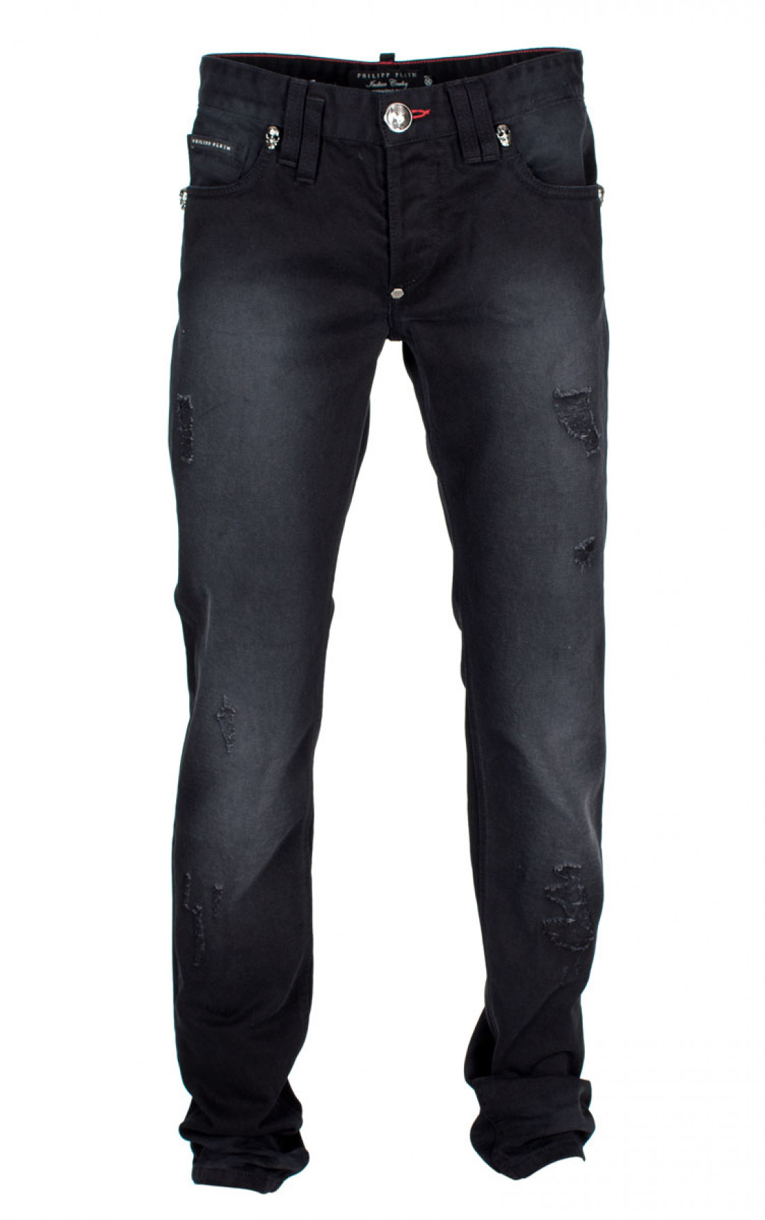 distressed straight-leg jeans - Black Philipp Plein Clearance Outlet Locations Huge Surprise Cheap Online Clearance Reliable Clearance Eastbay 6bZJmQ9