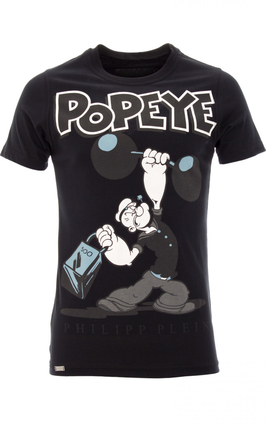philipp plein 39 popeye 39 t shirt black boudi uk. Black Bedroom Furniture Sets. Home Design Ideas