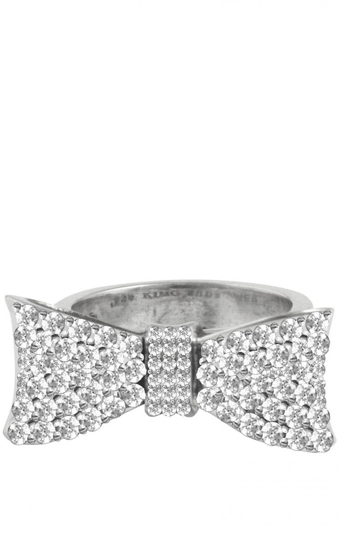 Queen Baby Baby Bow Ring Pave Cz