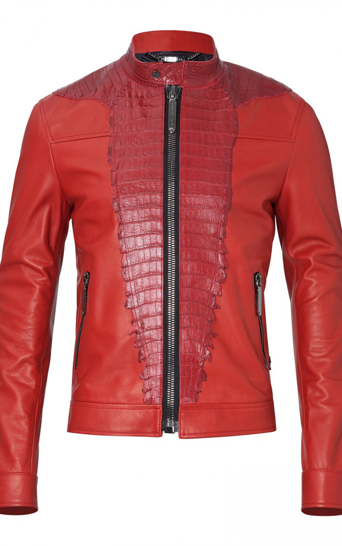 3073725a10f7 Philipp Plein - Distinct Red Leather Jacket