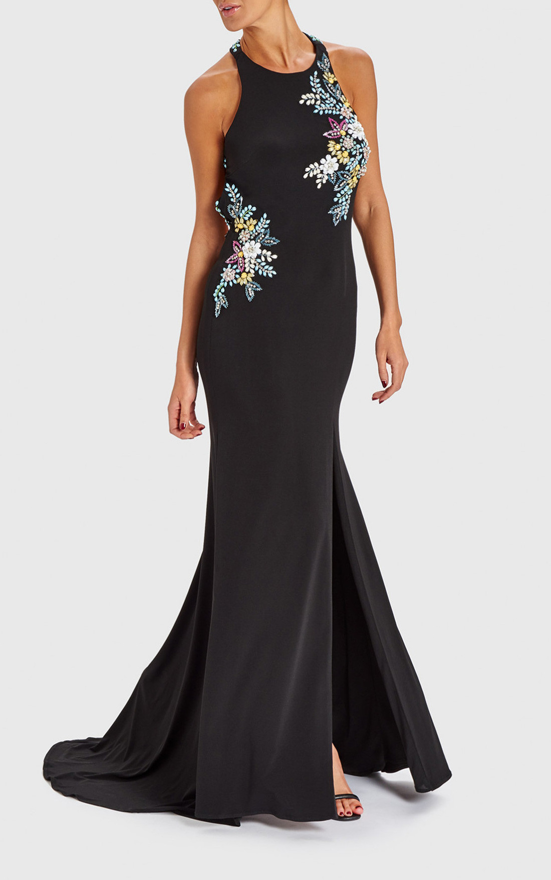 Forever Unique Dresses | Womens Miriam Black Evening Gown With ...