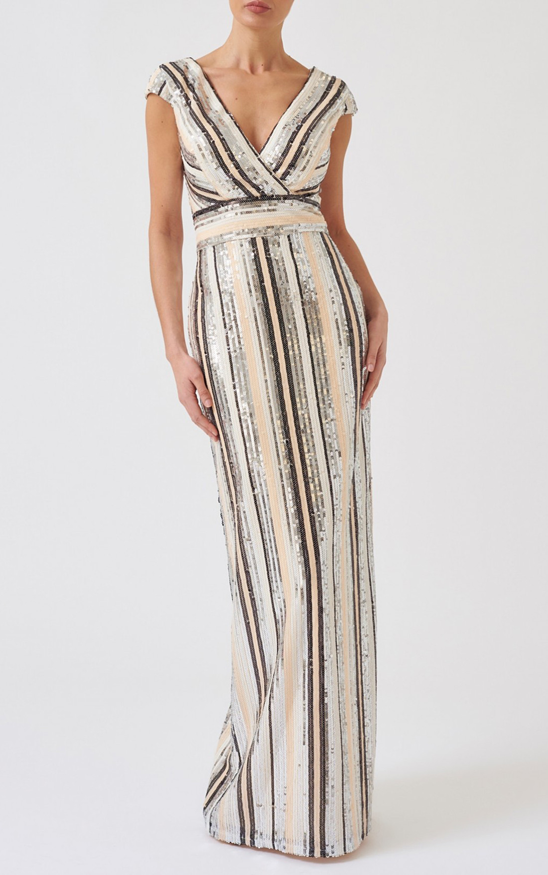 purchase newest for whole family coupon codes Forever Unique - Martha Striped Sequin Embellished Maxi Dress