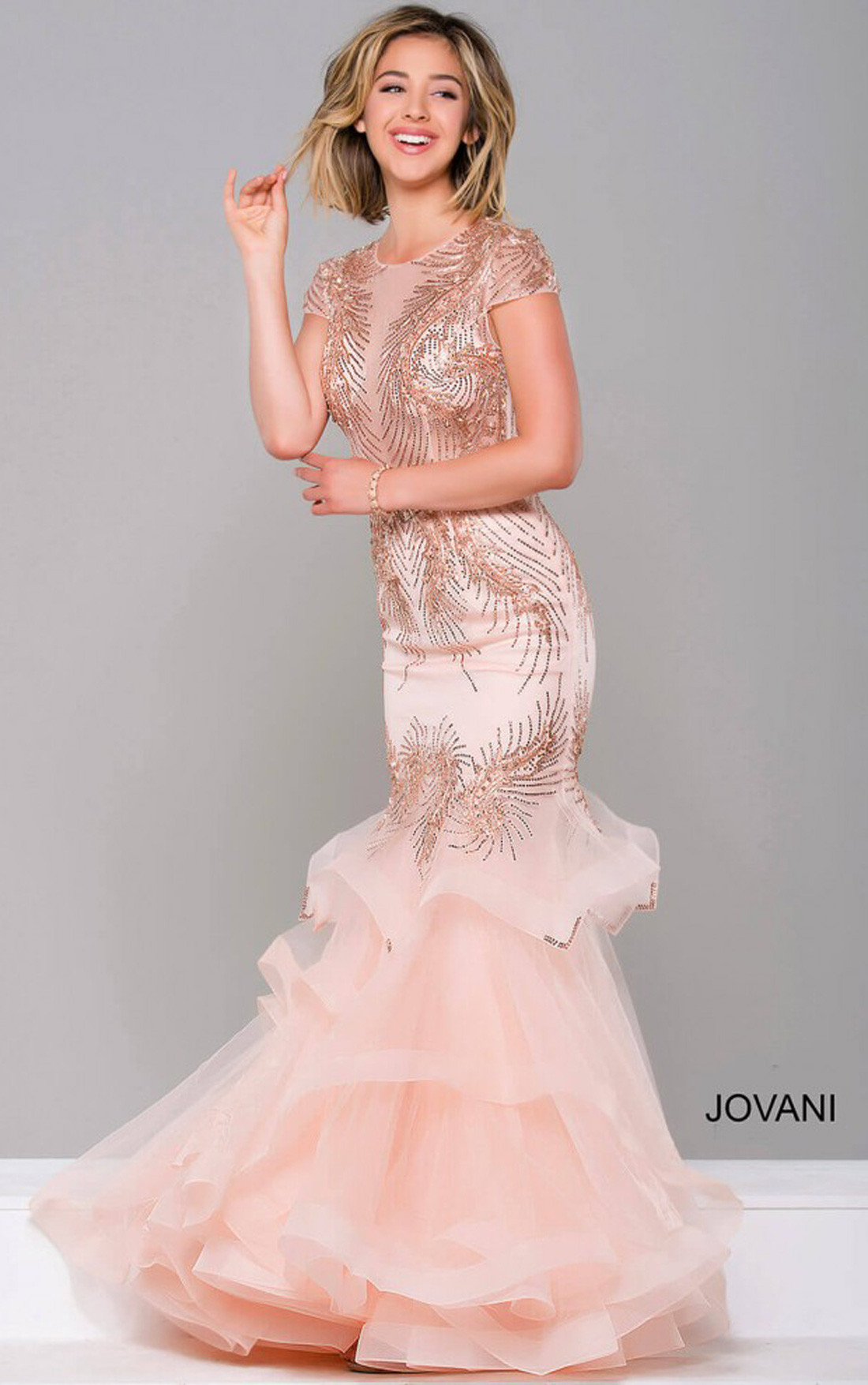 Jovani Dresses | Womens Black Embellished Mermaid Dress | Womens ...