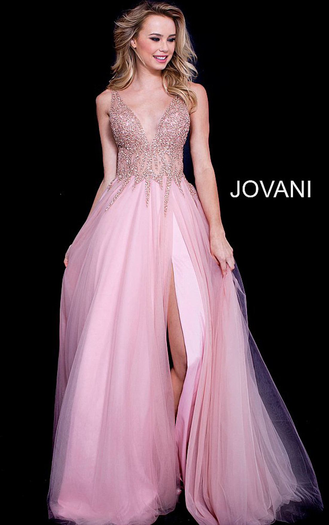 e2f6ab5f Jovani Dresses | Womens Blush Pink Ballgown with Embellished Bodice ...