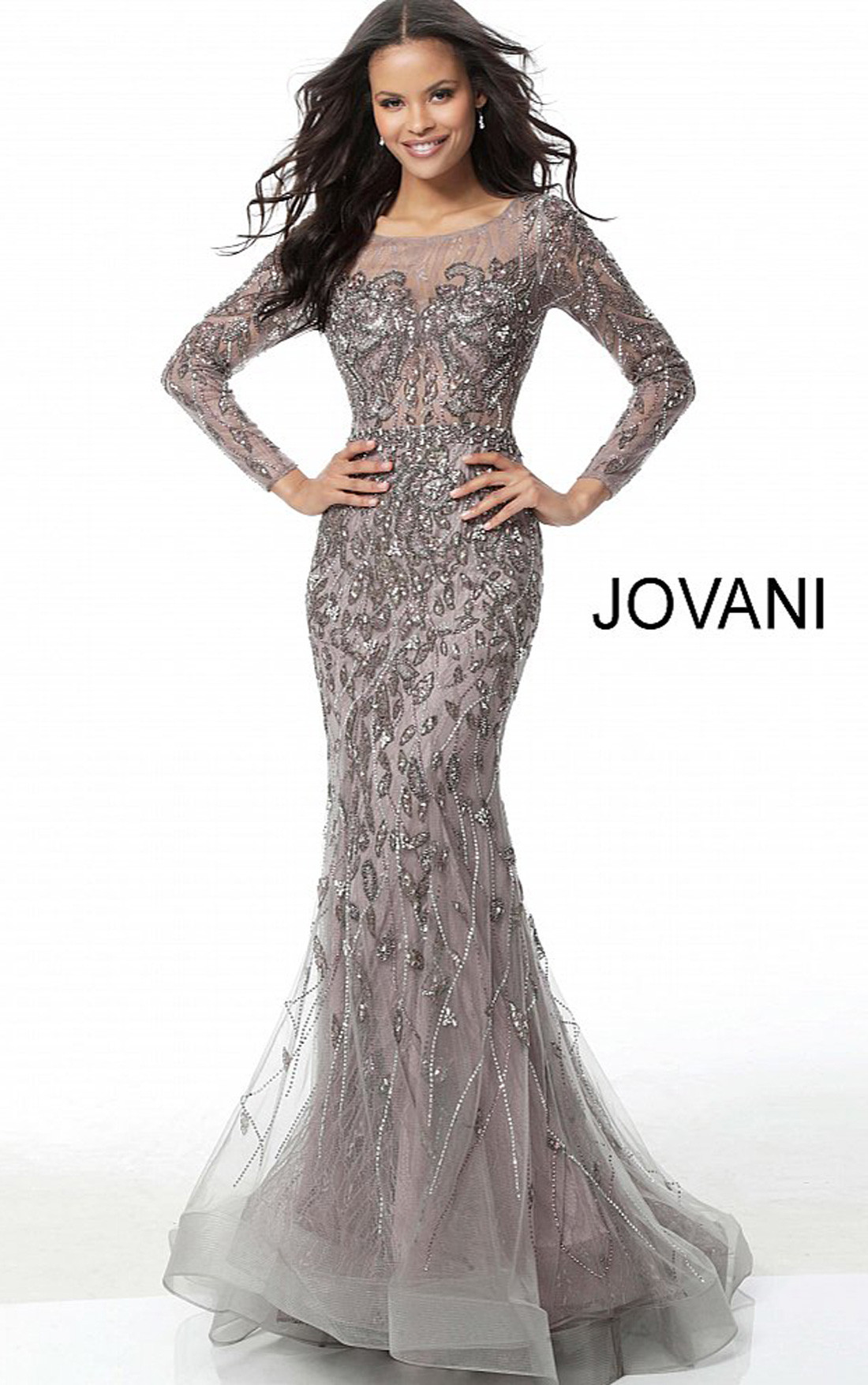 jovani long sleeve formal dresses