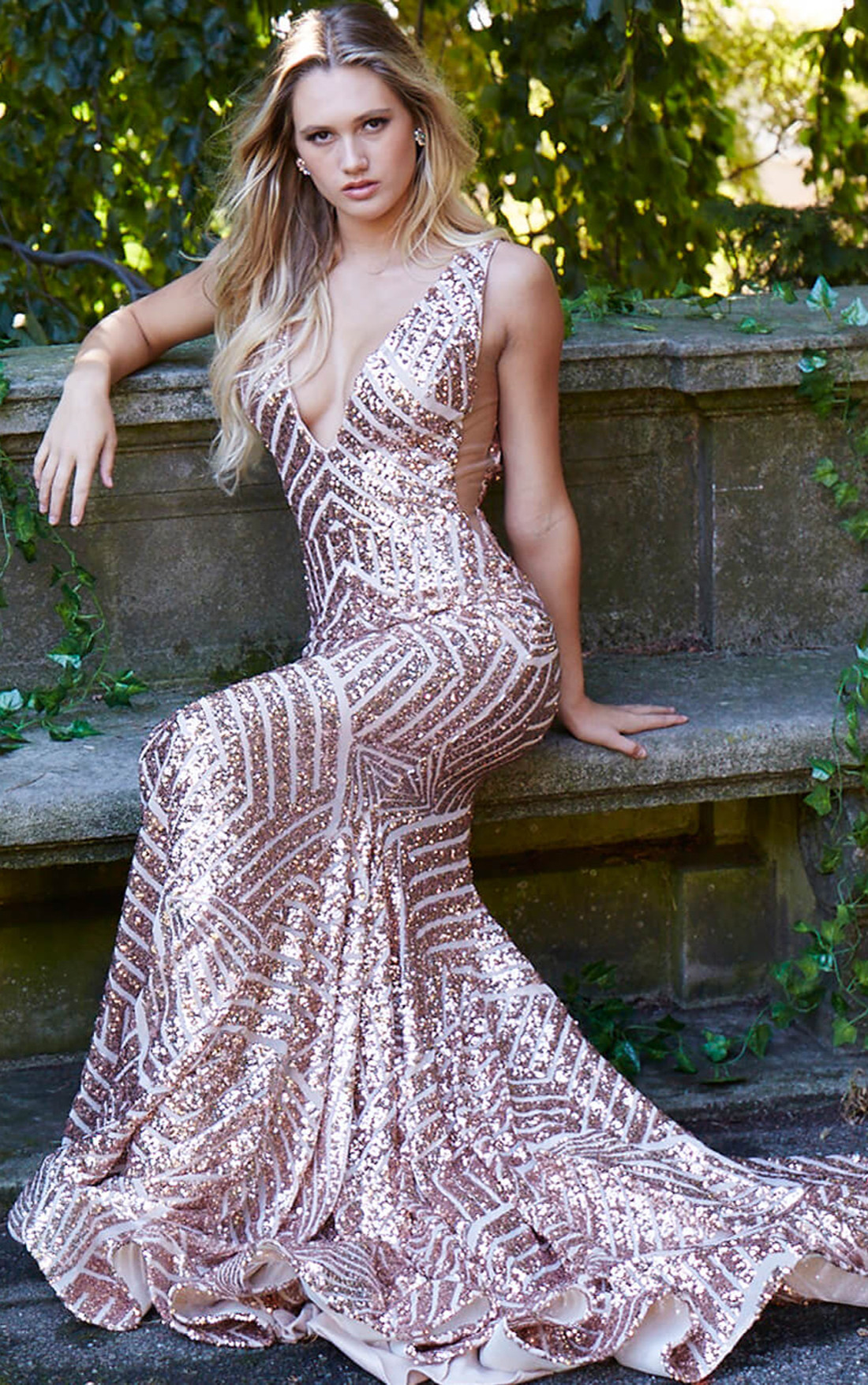 e7f5d39f Jovani Short Gold Sequin Dress | Saddha