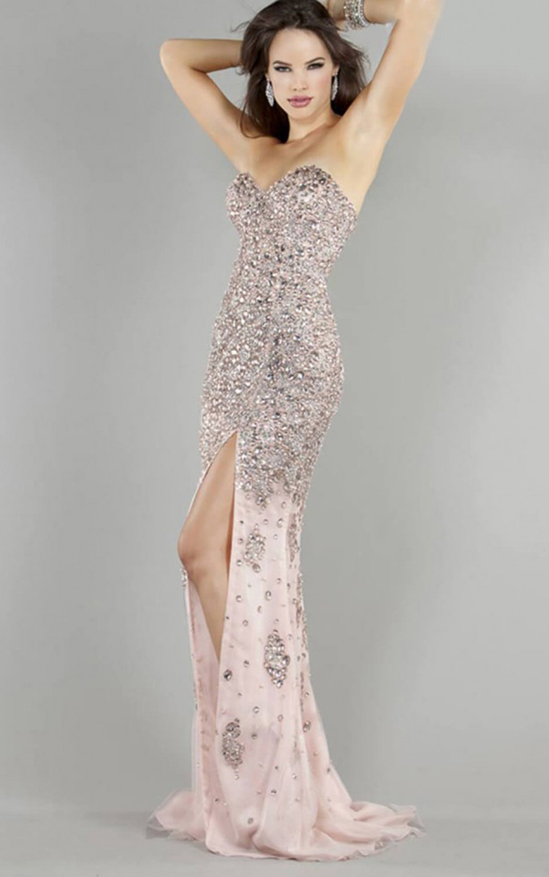 Jovani Dresses | Womens Pink Long Strapless Dress | Womens Dresses ...
