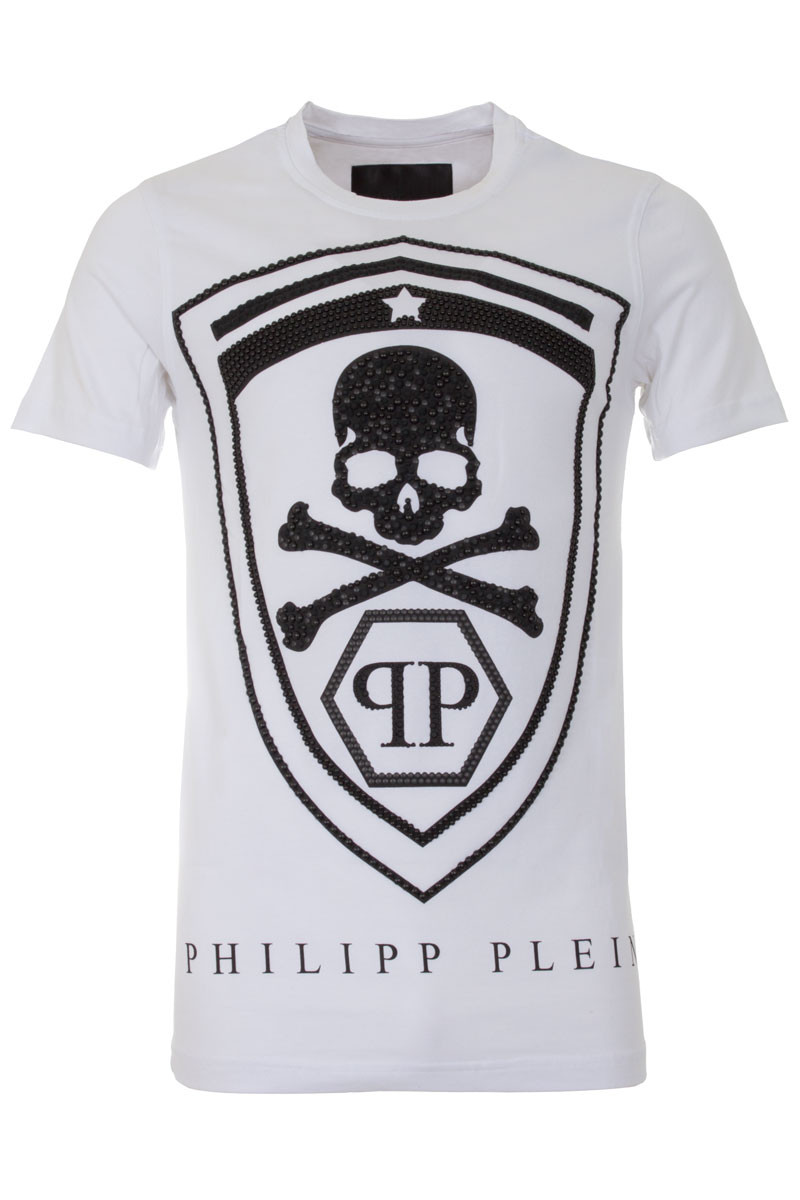 philipp plein 39 honour 39 t shirt white mens t shirt boudi fashion 98 new bond st london. Black Bedroom Furniture Sets. Home Design Ideas