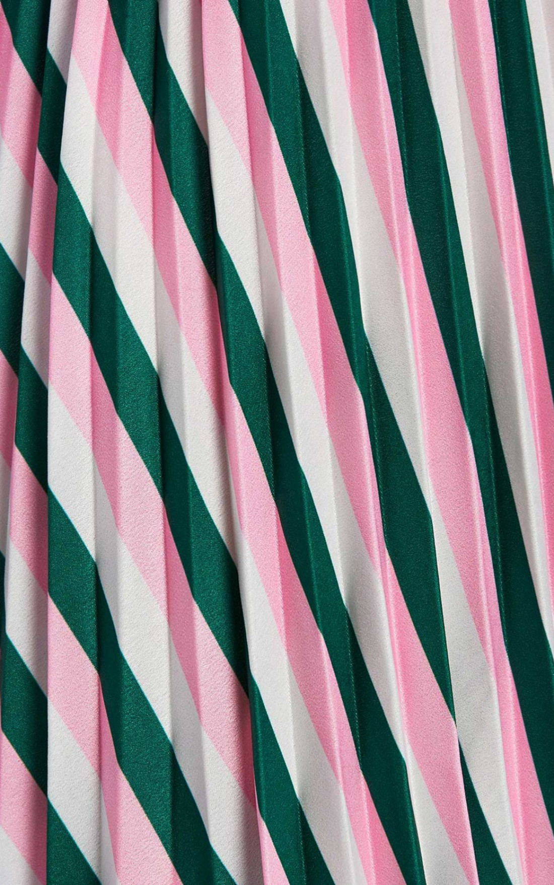 Forever Unique - Pink And Green Striped Midi Skirt (EX18248)