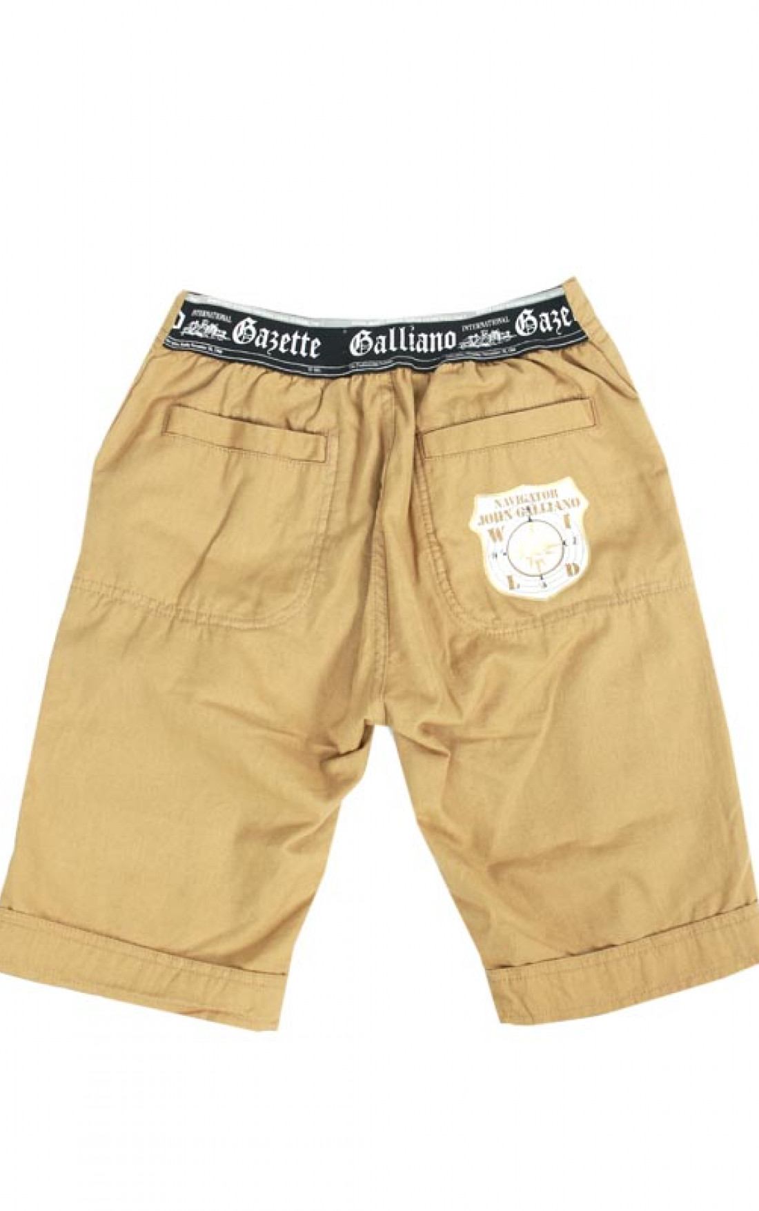 John-Galliano-Kids-Boys-Tan-Shorts-Boudi-UK-Back