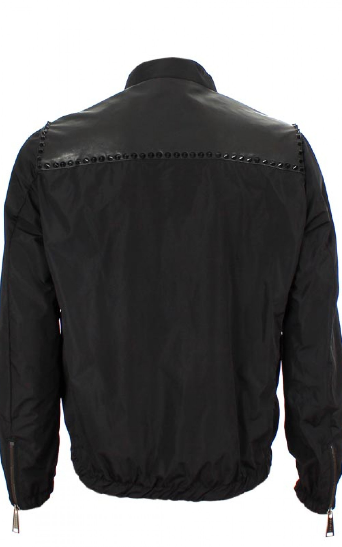Philipp-Plein-Mens-Basic-Rider-Jacket-Navy-Black-Boudi-UK-Back