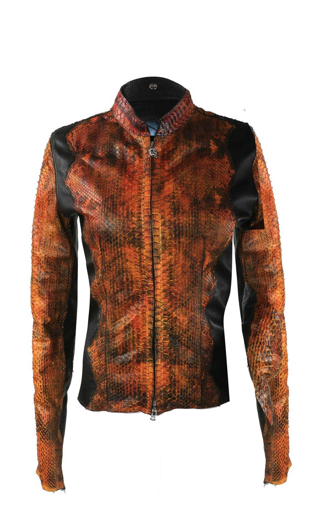 Anton - Fiery Orange Python Jacket (Pythonorange)