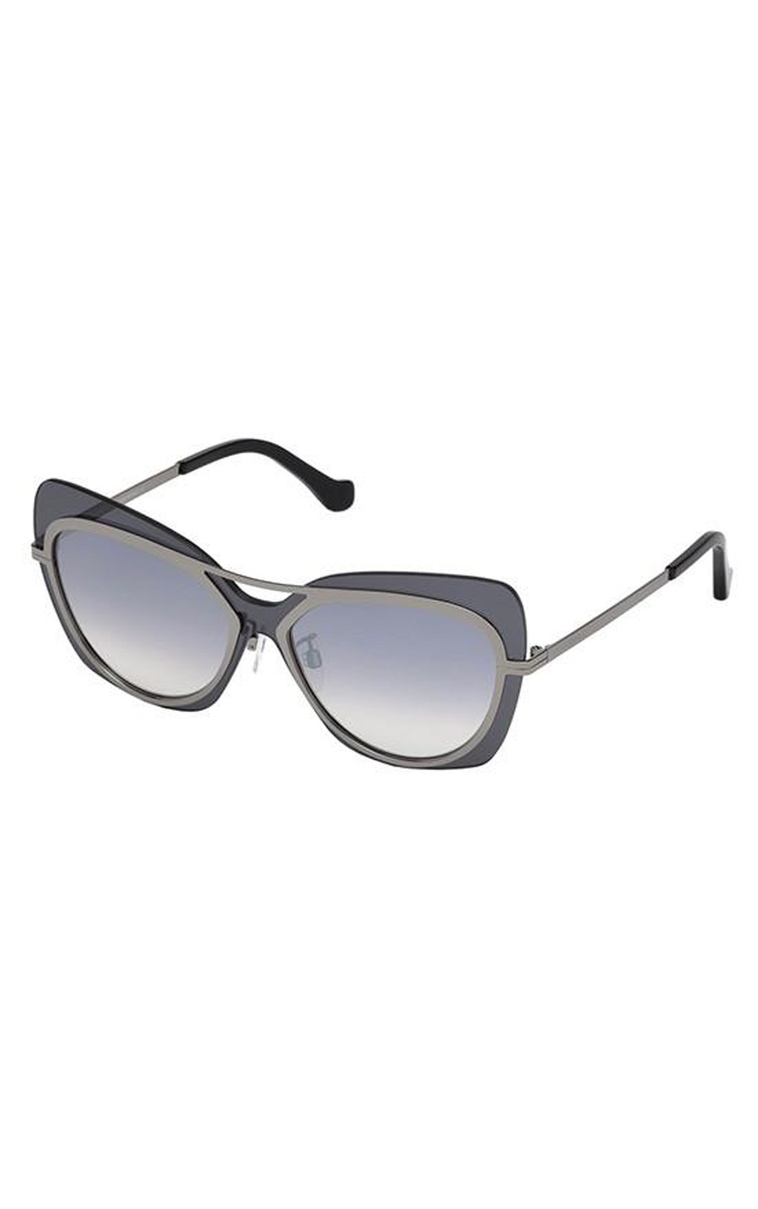 Balenciaga - Dark Ruthenium Oversized Sunglasses (BA00875712C)