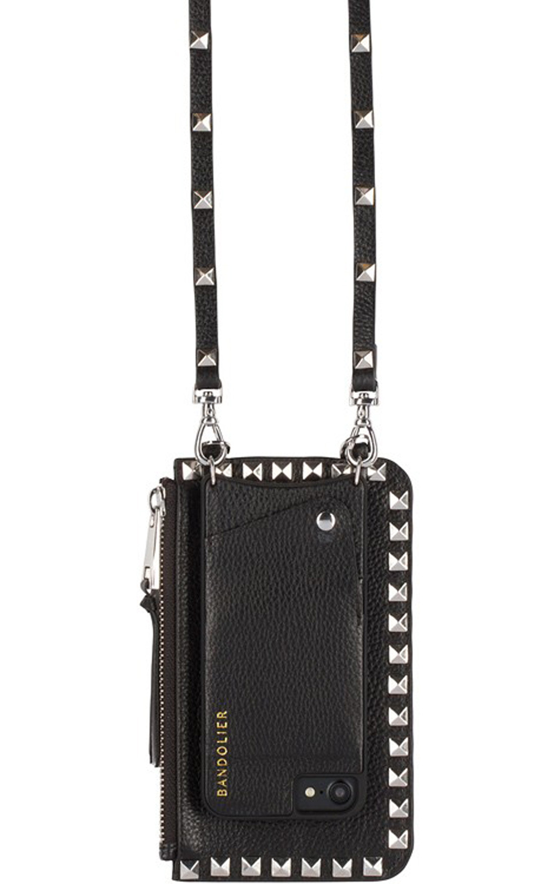 Bandolier - Silver Stud Black Hardware Pouch (8013)