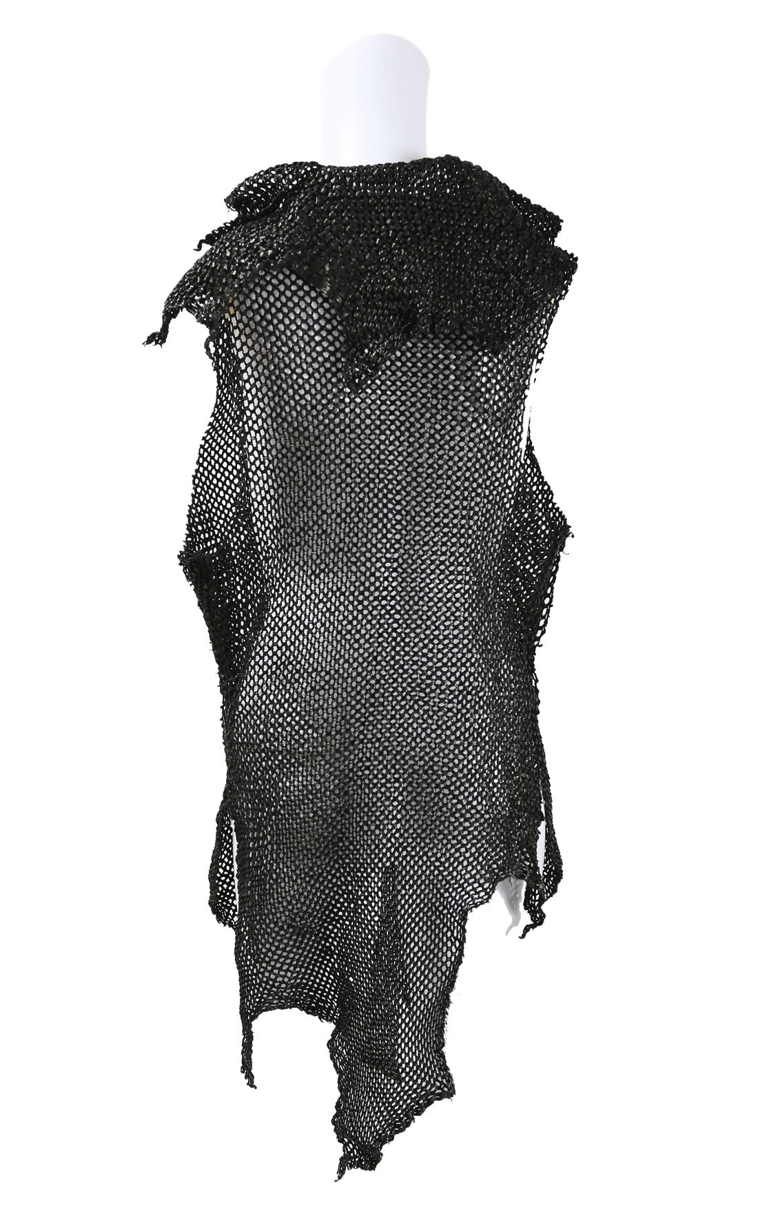 Claudio Cutuli - Black Lasered Leather Gilet with Buttons (LOISE-1)