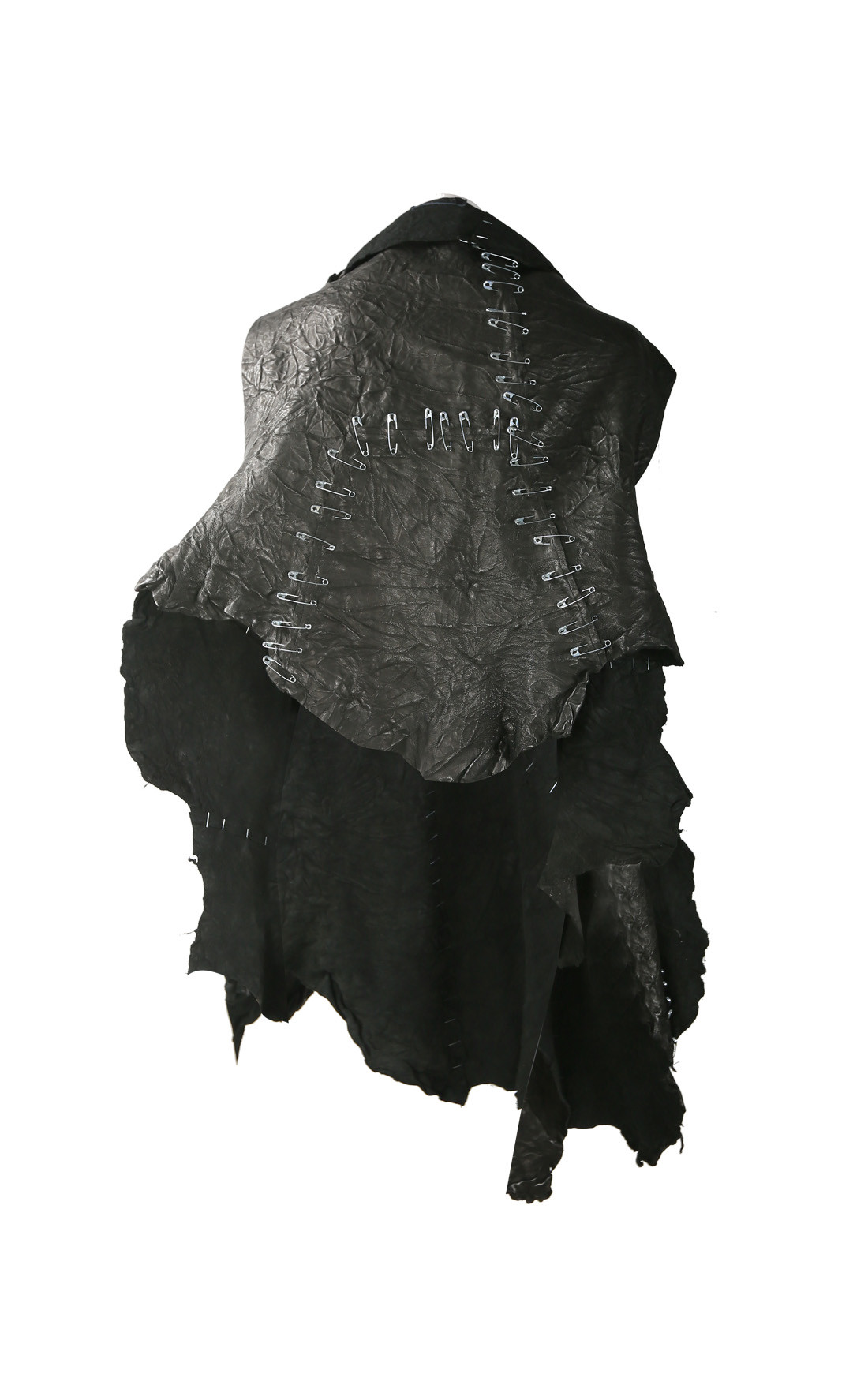 Claudio Cutuli - Leather Stole with Safety Pins On Gilet with Holes (JAGGER)