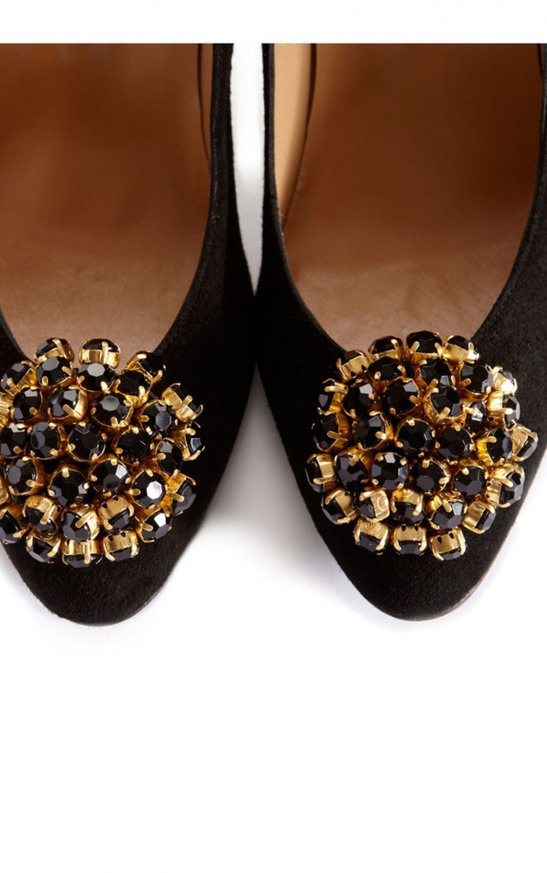 Cleo B - Black & Gold Crystal Shoe Clips (CBCRY)
