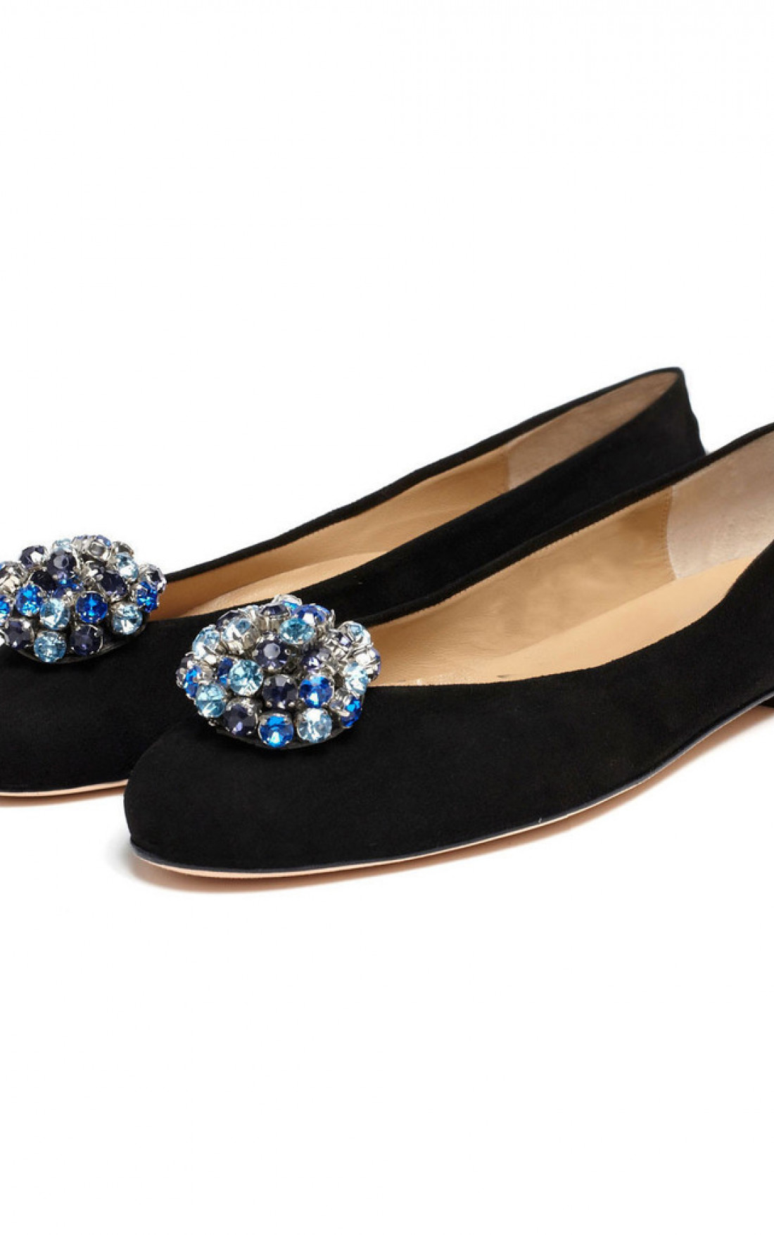 Cleo B - Blue Crystal Shoe Clips (CBCRY)