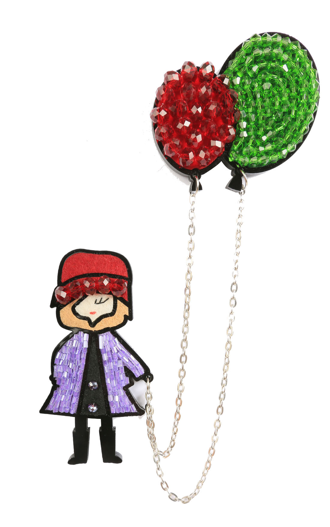 Fashion Drug - Magnetic Fashion Doll with Balloons Brooch (DollBalloon)