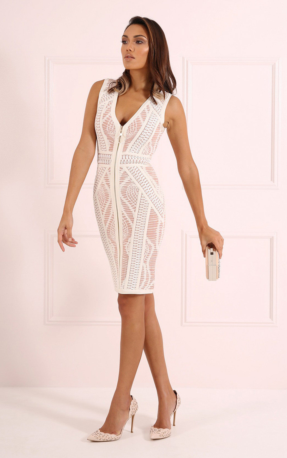Forever Unique - Montana Ivory Nude Dress (CH0603)