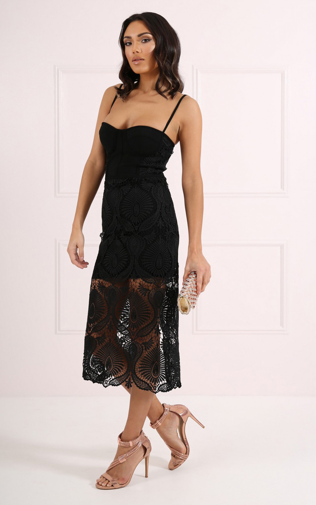 Forever Unique - Tabby Black Dress (CH0616)