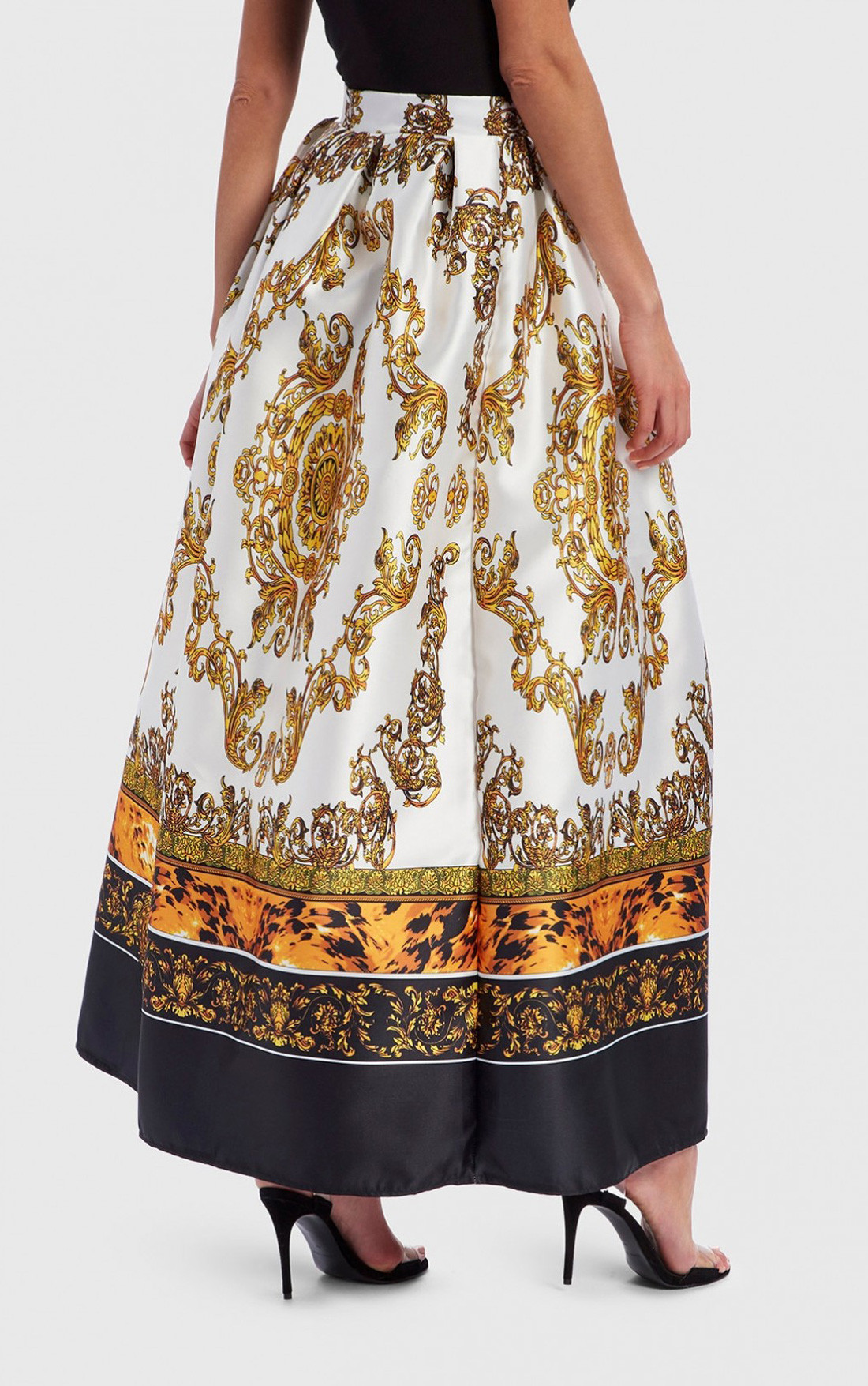 Forever Unique - Baroque Print Maxi Skirt (EX18259)