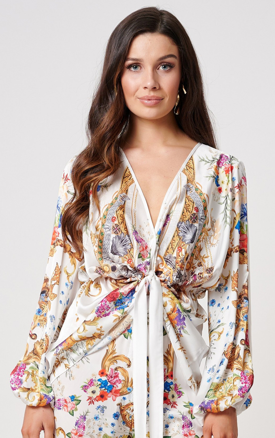 Forever Unique - Island White Multi Print Top (MN201712)