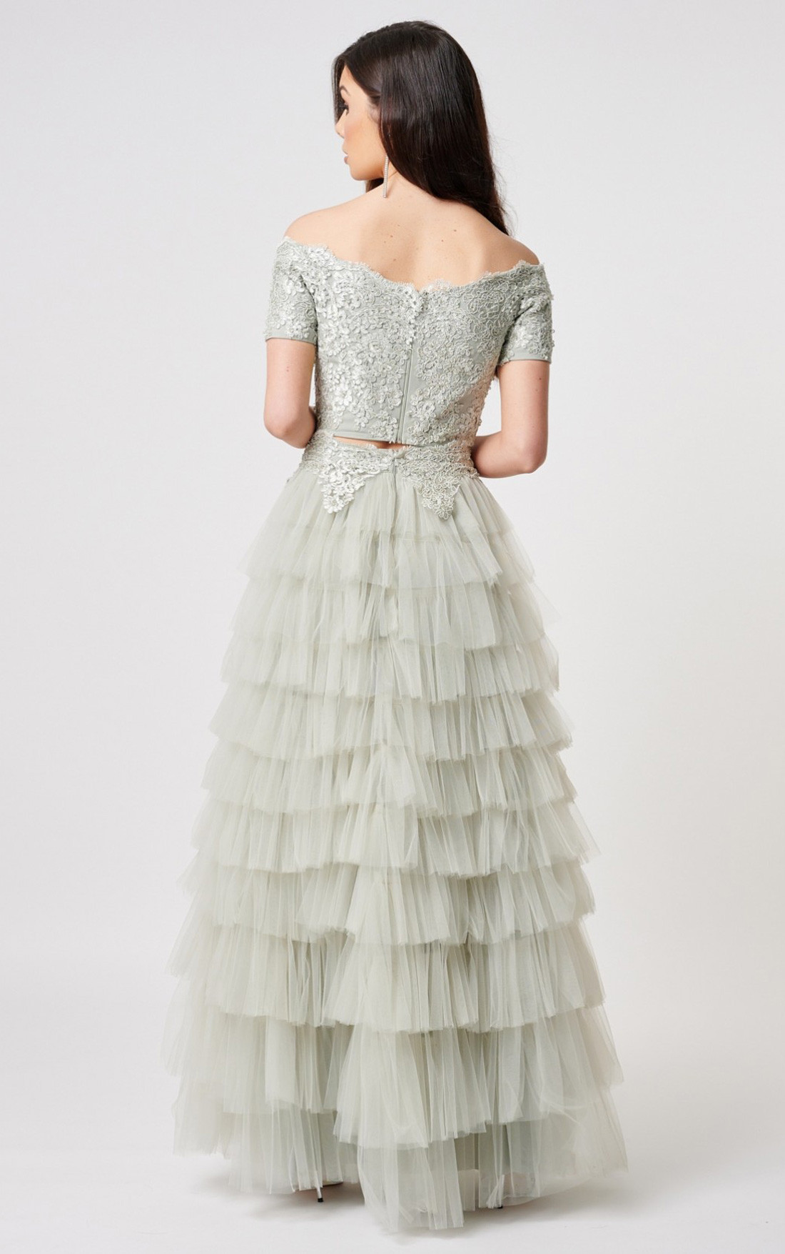 Forever Unique - Selena Sage Two Piece Floral Tulle Ballgown (MN206105)