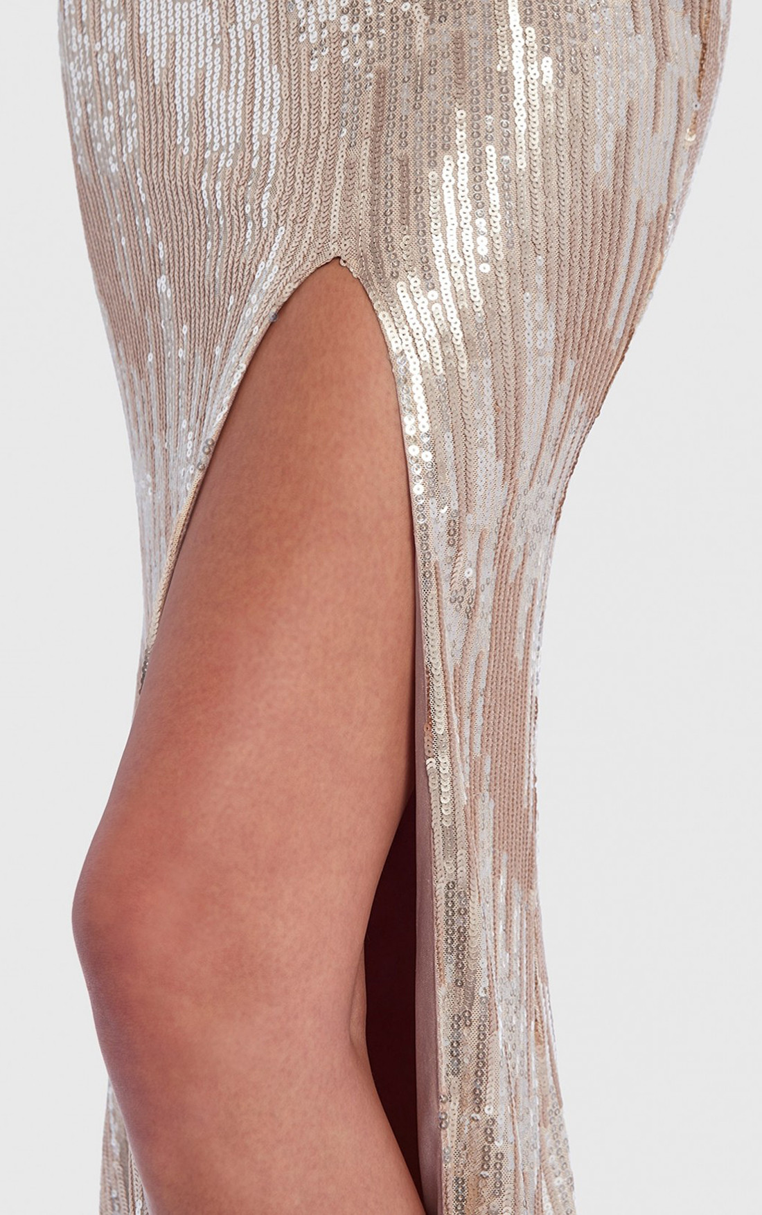 Forever Unique - Corellia Champagne Sequin Dress (AF0911)