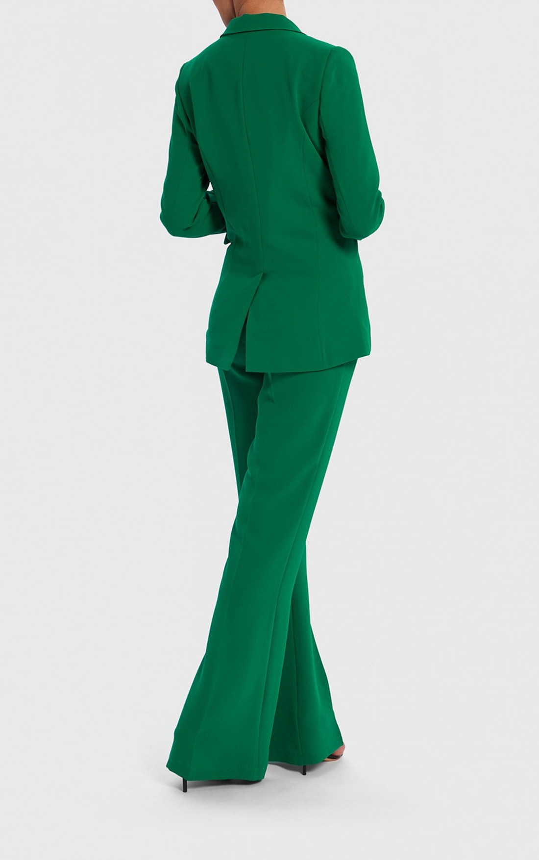 Forever Unique - Jade Emerald Green Flared Tailored Trousers (TJ9015)