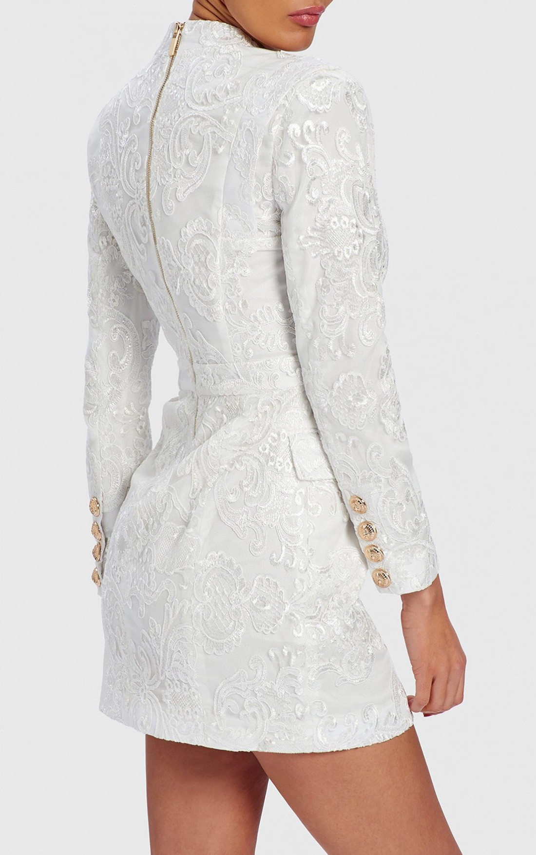 Forever Unique - Blake White Lace Blazer Dress (WF1104)