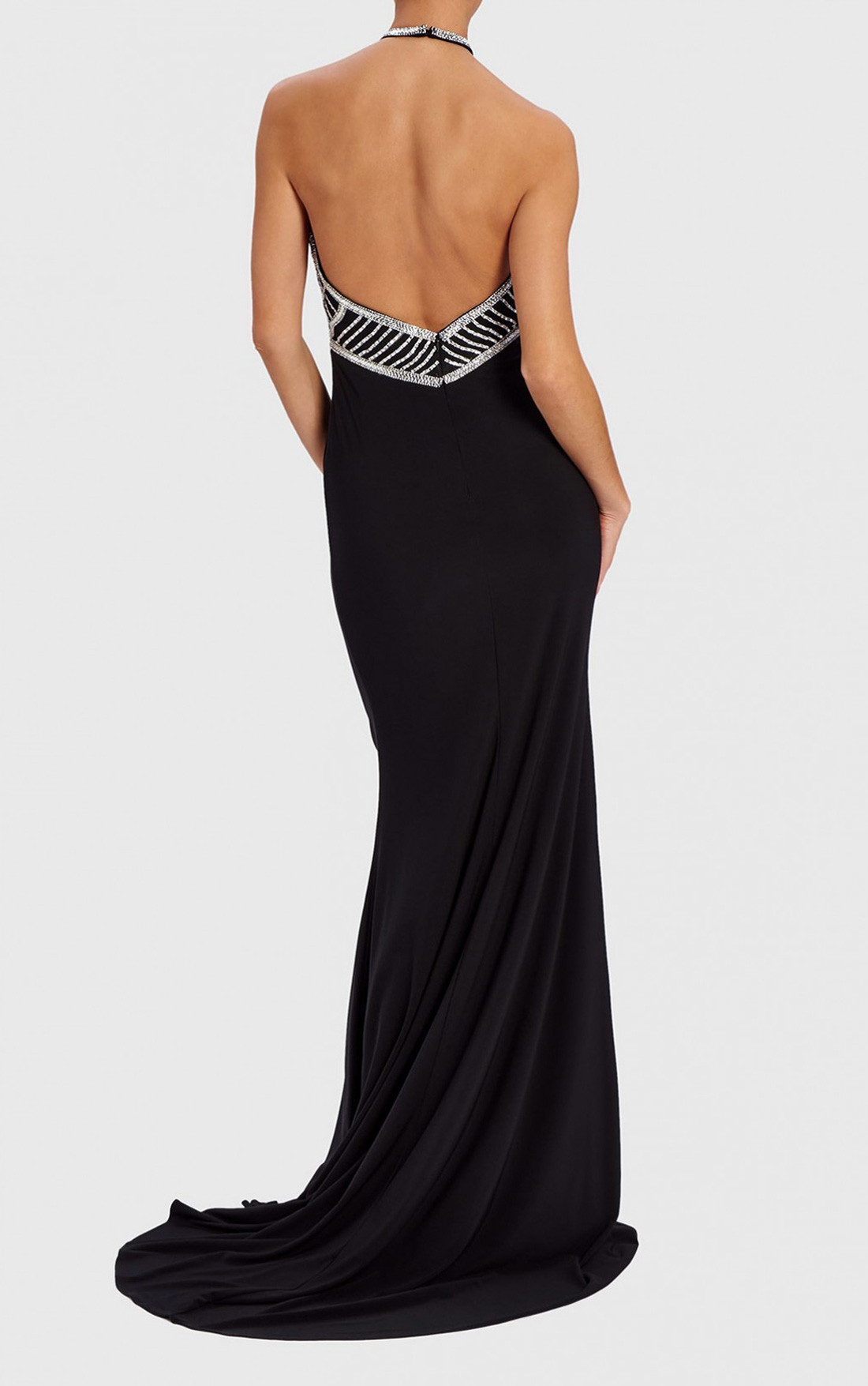 Forever Unique - Carina Black Diamante Dress (WF1201)