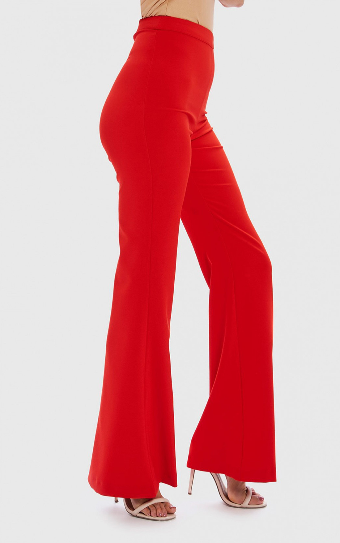 Forever Unique - Tess Red Wide Leg Trousers (WF8208)