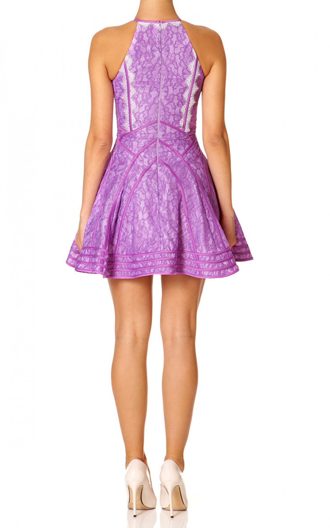Forever Unique - Daphne Lilac Skater Dress (SR0150)