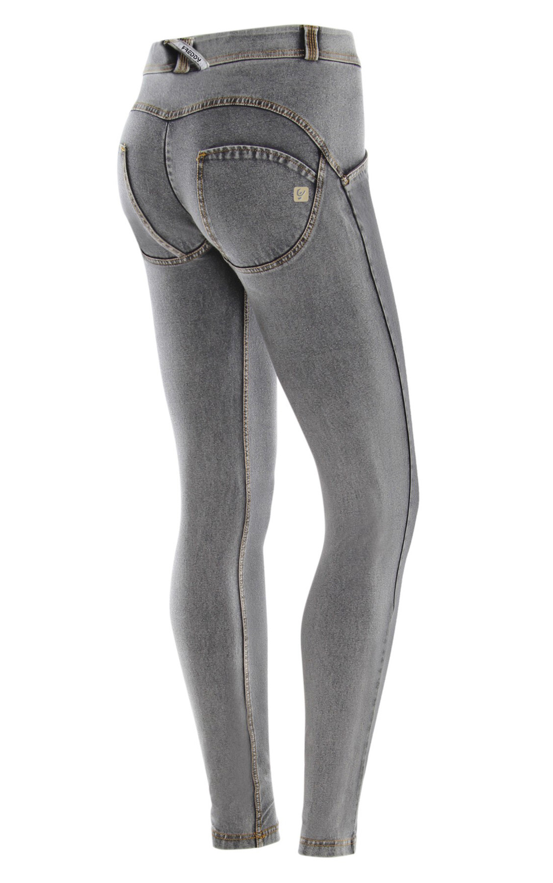 Freddy - Wr.Up® Shaping Effect Mid Waist Skinny Jeggings Grey (WRUP1RA01E_J3Y)