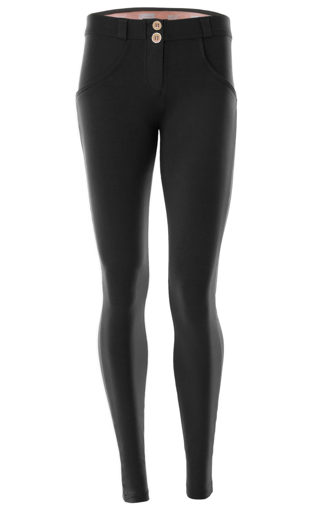 Freddy - Wr.Up® Shaping Effect Mid Waist Skinny Jeggings Black (WRUP1RC01E_N)