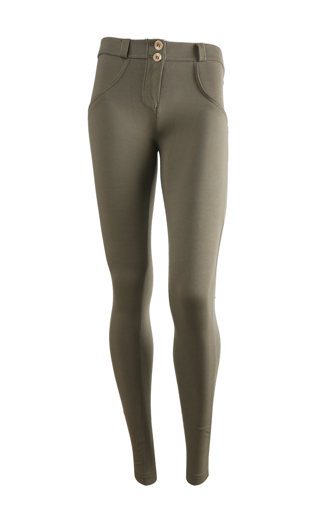 Freddy - Wr.Up® Shaping Effect Mid Waist Skinny Jeggings Khaki (WRUP1RC01E_V33)