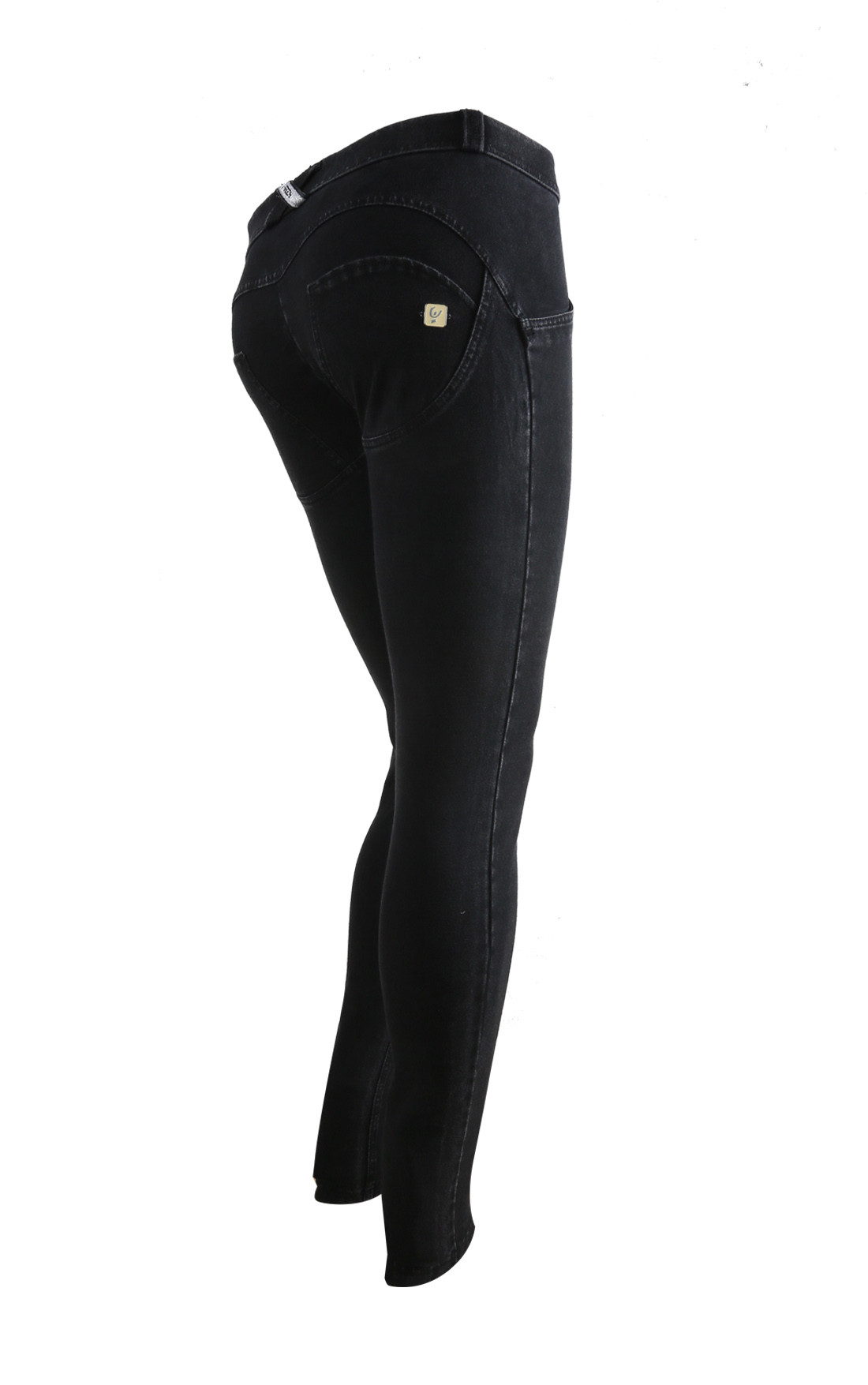 Freddy - Wr.Up® Shaping Effect Mid Waist Skinny Jeggings Black (WRUP1RJ01E_J7N)