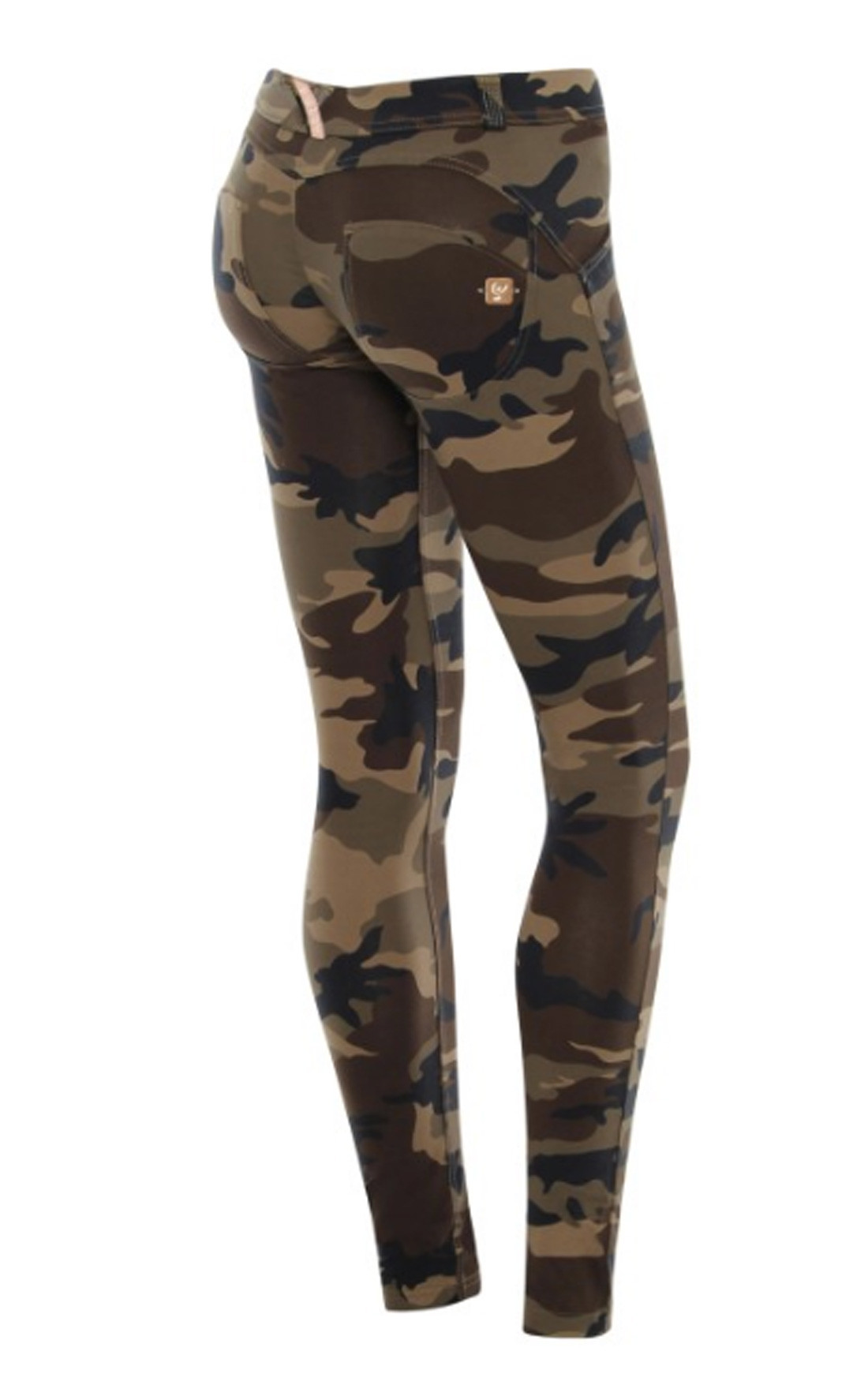 Freddy - Wr.Up® Shaping Effect Mid Waist Skinny Jeggings Brown Camo (WRUP1RF04E)