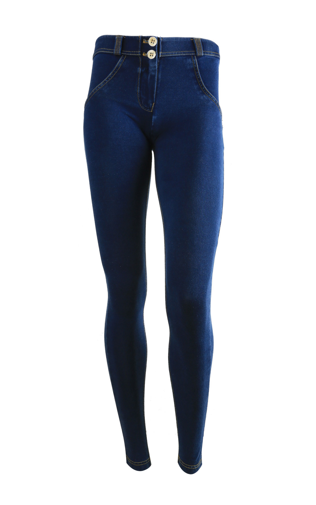 Freddy - Wr.Up® Shaping Effect Mid Waist Skinny Jeggings Dark Denim (WRUP1RJ1E_J0Y)