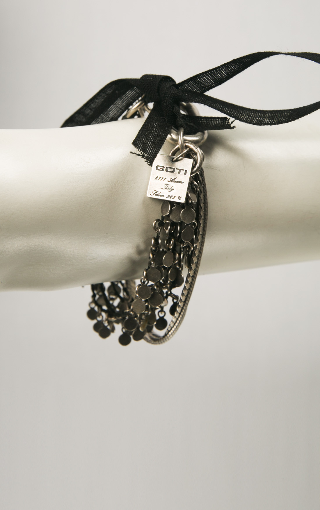 Goti - Multi Silver Bracelet with Mini Coins (BR1249)