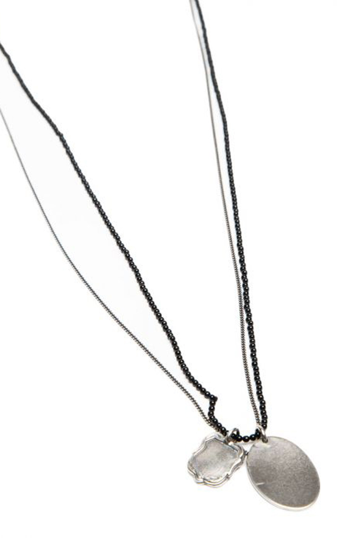 Goti - Sterling Silver and Onyx Necklace (CN1115)