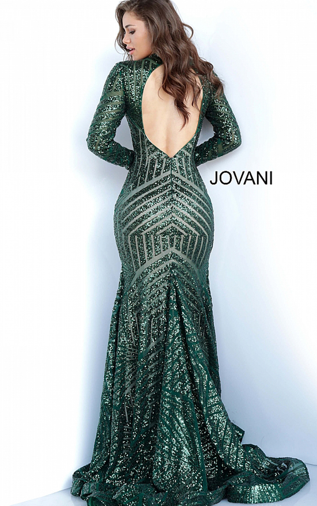Jovani - Hunter Sequin Open Back Dress (4060)
