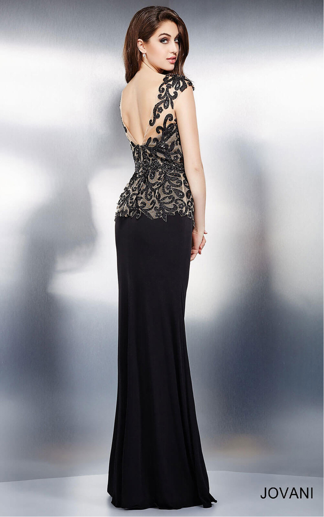 Jovani Dresses | Womens Black Cap Sleeve Evening Dress ... - photo#42