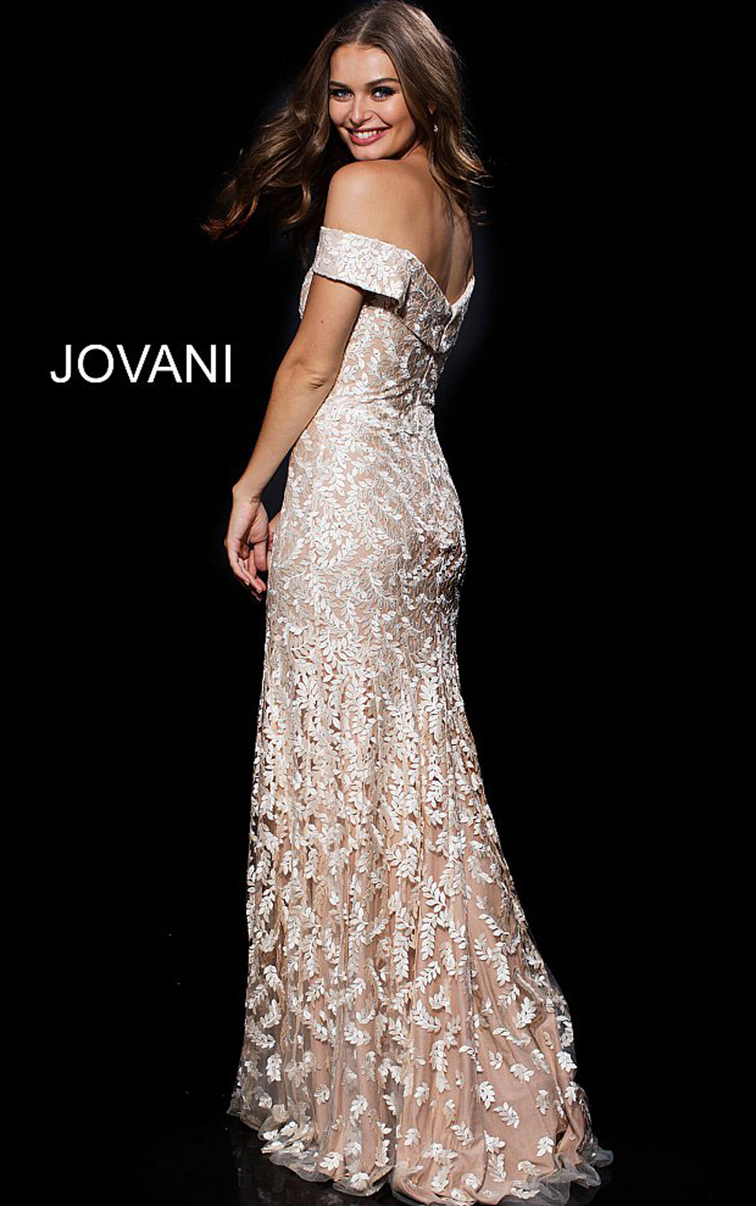 Jovani Dresses | Womens Gold Off the Shoulder Embroidered ... - photo#34
